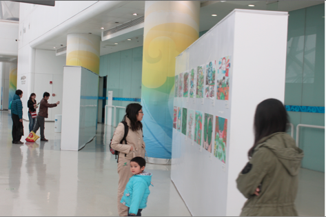 中国儿童环保教育计划画作巡展水立方开展
